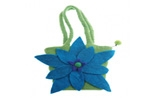 Blue Flower with Green Bag